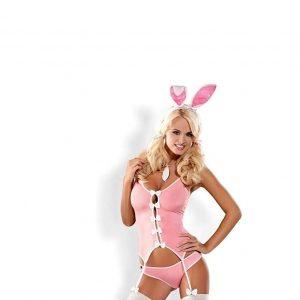 Disfraz erótico de coneja rosa